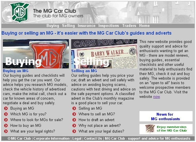 Buying an MG